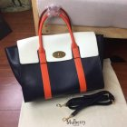 2017 Cheap Mulberry Bayswater with Strap Midnight, Chalk & Orange Smooth Calf