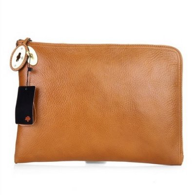 Mulberry Clutch Bag Soft Leather Oak