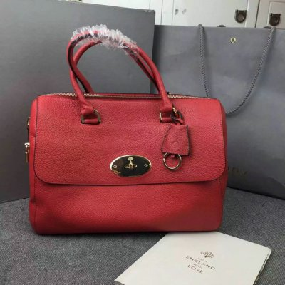 2015 Mulberry Del Rey Bag Red Small Grain Leather