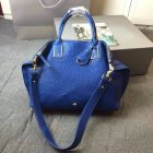 2015 New Mulberry Medium Alice Zipped Tote Bag in Sea Blue Shrunken Calf
