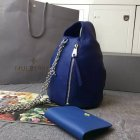 2015 Cheap Mulberry Georgia May Jagger Biker Pouch Blue Soft Polished Buffalo Leather