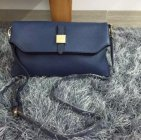 2015 New Mulberry Tessie Shoulder Bag in Blue Soft Grain Leather
