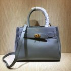 2020 Mulberry Small Belted Bayswater Bag Charcoal Heavy Grain Leather
