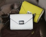 2015 Latest Mulberry Delphie Bag Cream & Black Ostrich Leather