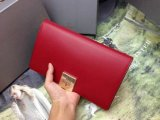 2014 A/W Mulberry Campden Clutch in Poppy Red Silky Nappa Leather