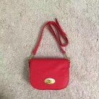 2017 S/S Mulberry Small Darley Satchel in Red Small Classic Grain Leather