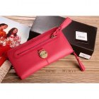 Mulberry Cow Leather Long Pink Wallet 8392-342