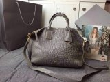 2015 New Mulberry Small Alice Zipped Tote Bag in Grey Shrunken Calf
