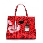 Mulberry Bayswater Patent Coral Red