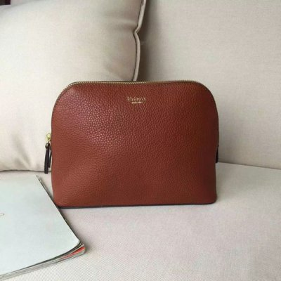 2016 Latest Mulberry Cosmetic Pouch Oak Small Classic Grain