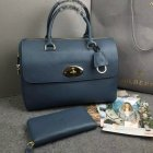 2015 Mulberry Del Rey Bag Petrol Blue Leather