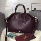 2015 New Mulberry Medium Alice Zipped Tote Bag in Oxblood Small Grain Leather