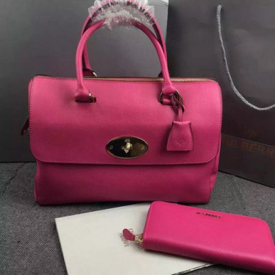 2015 Mulberry Del Rey Bag Mulberry Pink Leather