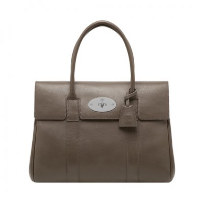 Mulberry Bayswater Taupe Shiny Goat
