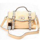 Mulberry Alexa Bag With Snake Strap Beige
