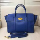 2017 S/S Mulberry Bayswater with Strap Blue Grain Leather