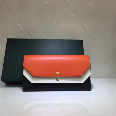 2017 Cheap Mulberry Multiflap Wallet Bright Orange,Chalk & Black Smooth Calf