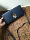 2018 Mulberry Amberley Clutch Bag in Dark Blue Grain Leather