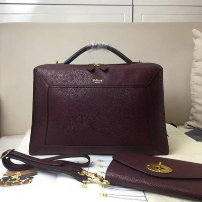 2017 Cheap Mulberry Hopton Oxblood Small Classic Grain Leather
