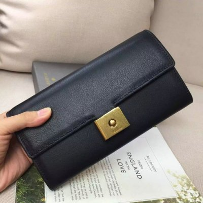 2016 Latest Mulberry Cheyne Wallet Black Calf Leather