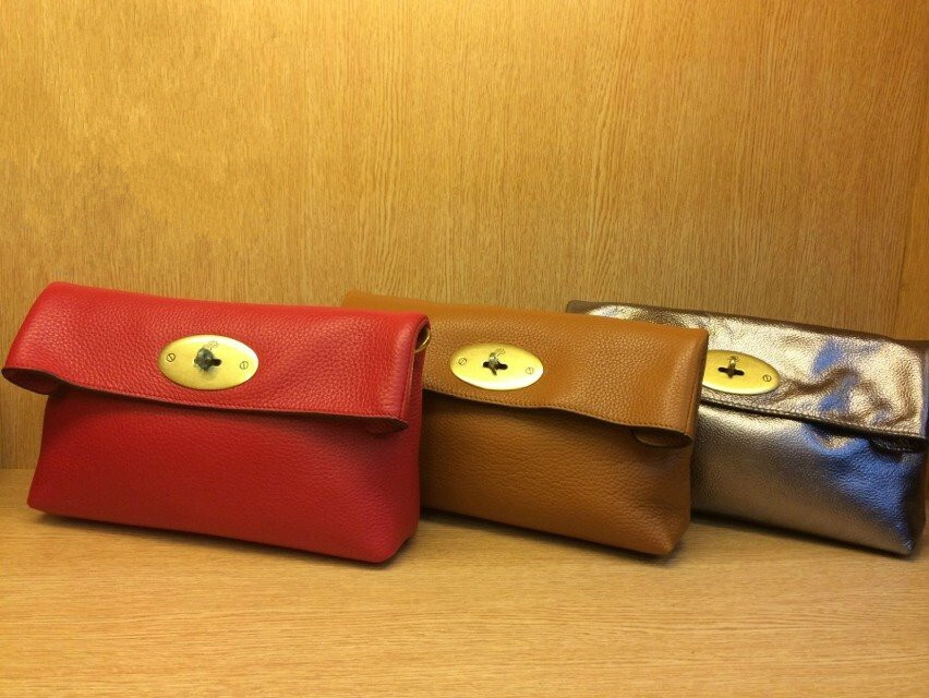 2014 Mulberry Clemmie Clutch Bags in Soft Grainy Leather