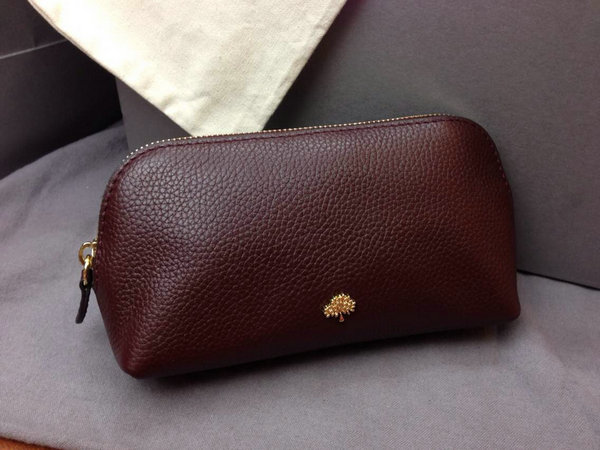 2014 A/W Mulberry Make Up Case Oxblood Small Grain Leather
