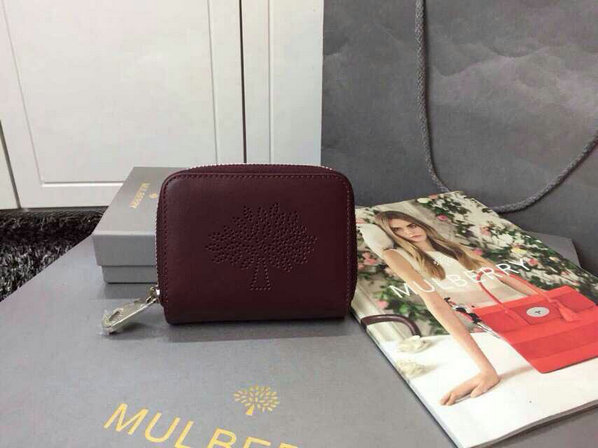 2015 S/S Mulberry Blossom Zip Around Purse 312332 in Oxblood