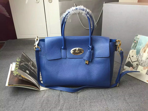 2015 A W Mulberry Bayswater Buckle Tote Bag in Sea Blue Small Grain Leather 869a51196c6ad