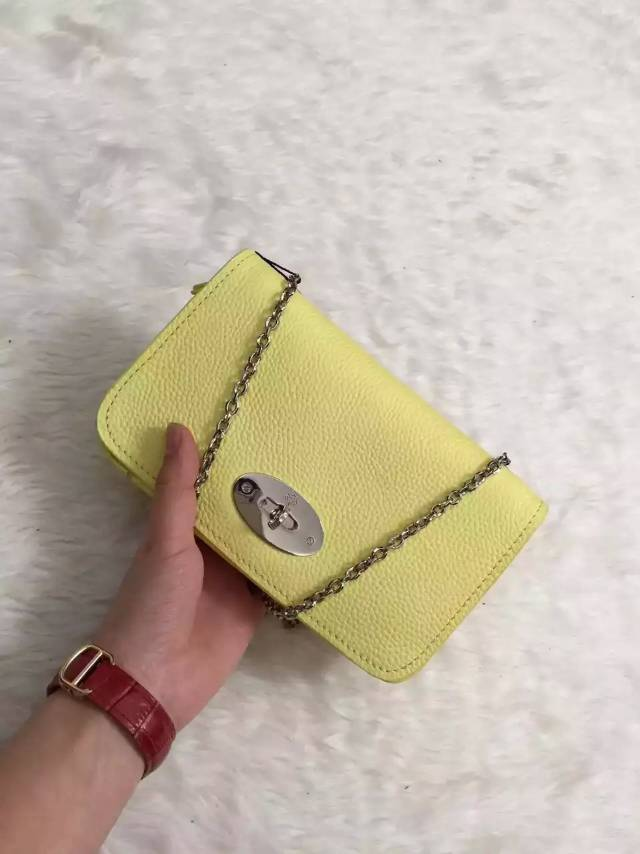 2015 new color Mulberry Bayswater Clutch Wallet in Camomile Leather