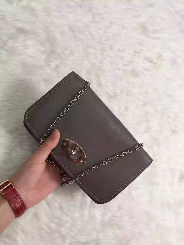 2015 new color Mulberry Bayswater Clutch Wallet in Taupe Leather