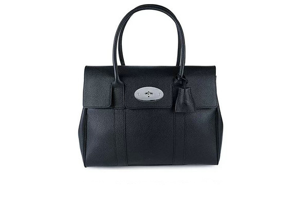 2015 Iconic Mulberry Bayswater Black Small Classic Grain with Nickel