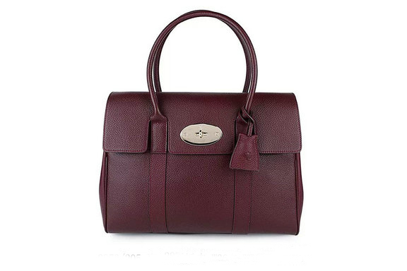 2015 Iconic Mulberry Bayswater Oxblood Small Classic Grain with Soft Gold