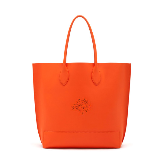 2015 S/S Mulberry Blossom Tote Bag in Mandarin Calf Nappa Leather