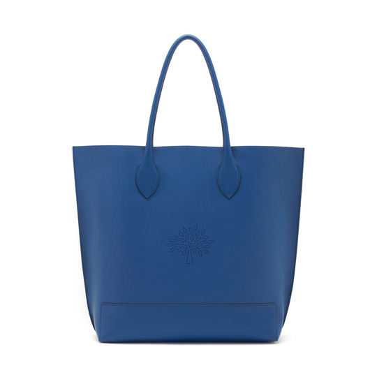 2015 S/S Mulberry Blossom Tote Bag in Sea Blue Calf Nappa Leather