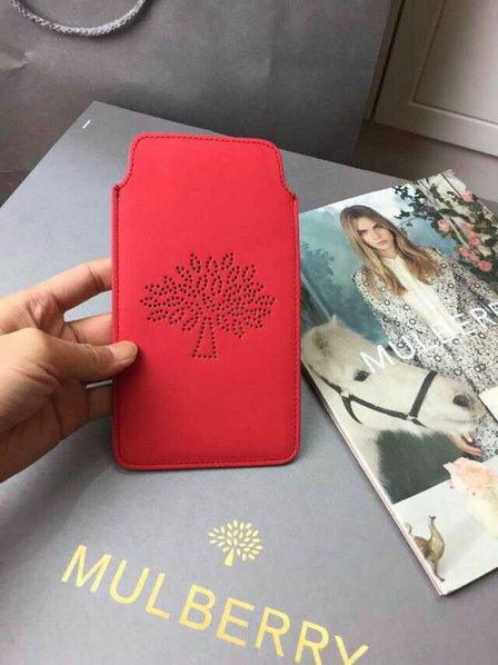 Mulberry Blossom iPhone 6 Cover in Hibiscus Calf Nappa