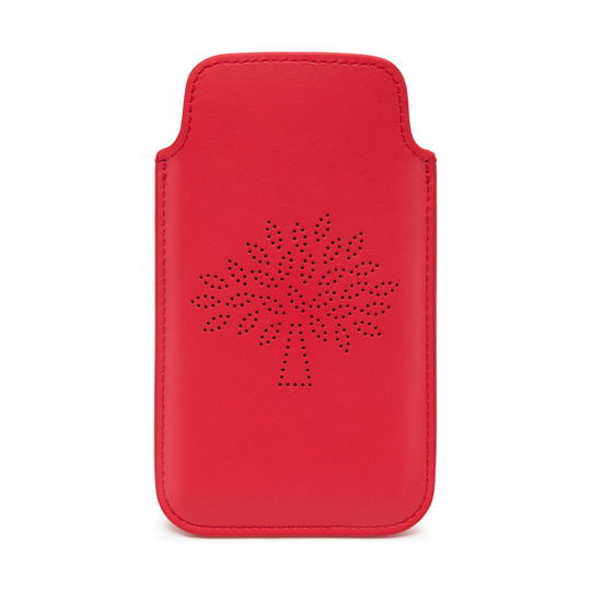 Mulberry Blossom iPhone Plus Cover in Hibiscus Calf Nappa