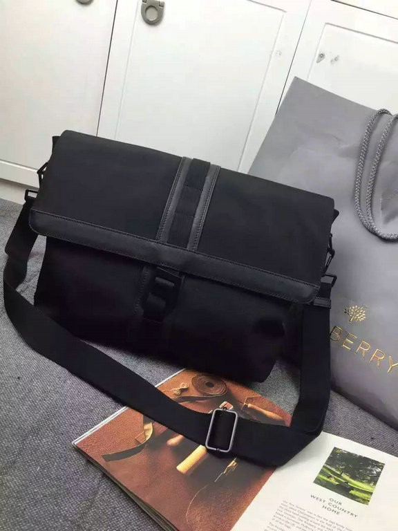 2015 Cheap Mulberry Mens Fleet Messenger Bag Charcoal Coated Canvas