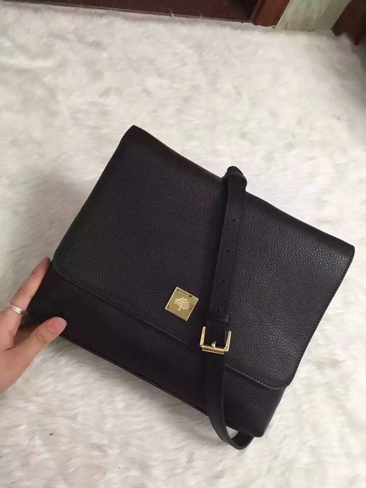 2015 Autumn/Winter Mulberry Freya Satchel Black Small Grain Calf Leather