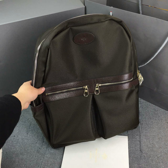 Cheap Mulberry Henry Nylon Backpack Chocolate with leather detailing