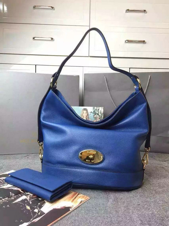 2015 Latest Mulberry Sea Blue Jamie Bucket Bag for sale
