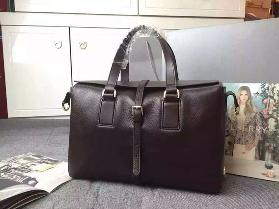 2015 Latest Mulberry Leather Roxette Satchel Bag in Chocolate