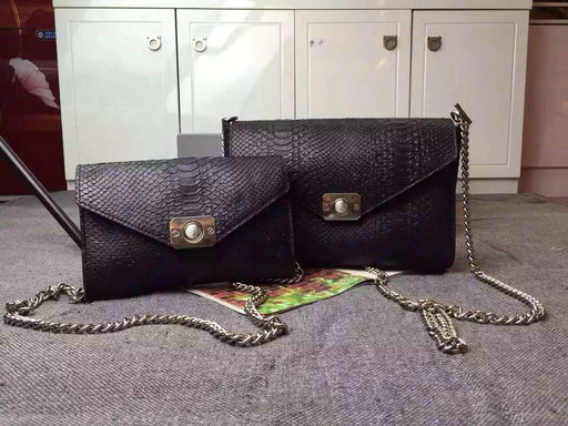 2015 Latest Mulberry Delphie Bag Black Snake Leather