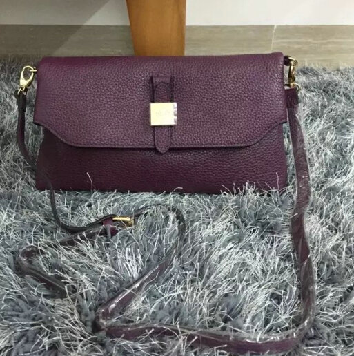 2015 New Mulberry Tessie Shoulder Bag in Purple Soft Grain Leather