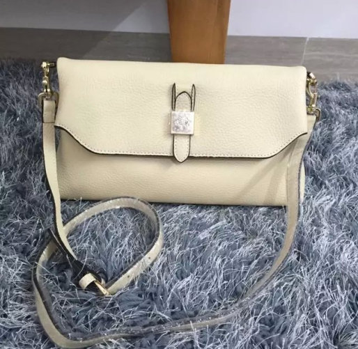 2015 New Mulberry Tessie Shoulder Bag in White Soft Grain Leather