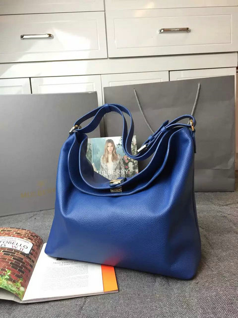 New Mulberry Handbags 2014-Tessie Hobo See Blue Soft Small Grain