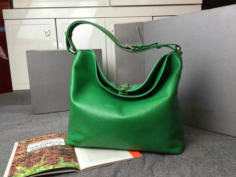New Mulberry Handbags 2014-Tessie Hobo Green Soft Small Grain