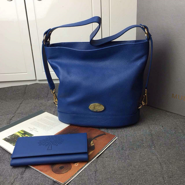 2015 Latest Mulberry Small Jamie Bucket Bag Blue Small Grain Leather