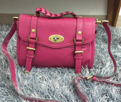 2015 Mulberry Small Alexa Satchel Bag Hot Pink Leather
