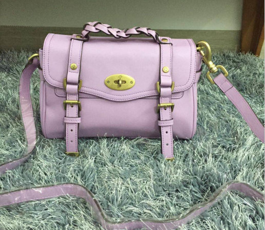 2015 Mulberry Small Alexa Satchel Bag Lavender Leather