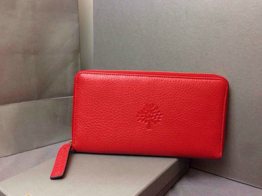 2015 Hottest Mulberry Effie Zip Around Wallet Red Leather